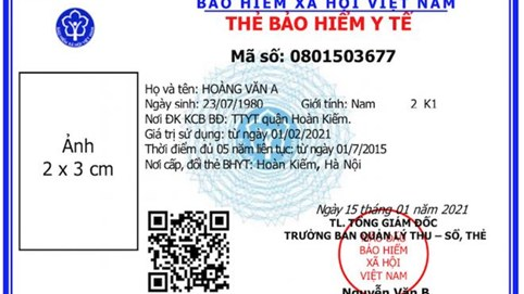 Thay đổi thẻ BHYT mới từ tháng 4/2021