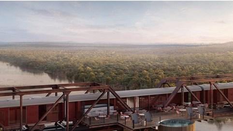 Khách sạn xa hoa nằm ngay giữa đường ray tàu hỏa ở châu Phi