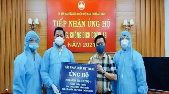 """Nối tiếp hành trình """"Kết nối yêu thương"""" của Báo Pháp luật Việt Nam đến với người dân ở tâm dịch 2 tỉnh Bắc Ninh - Bắc Giang"""