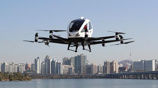 Thử nghiệm loại hình taxi bay bằng drone đầu tiên tại Hàn Quốc