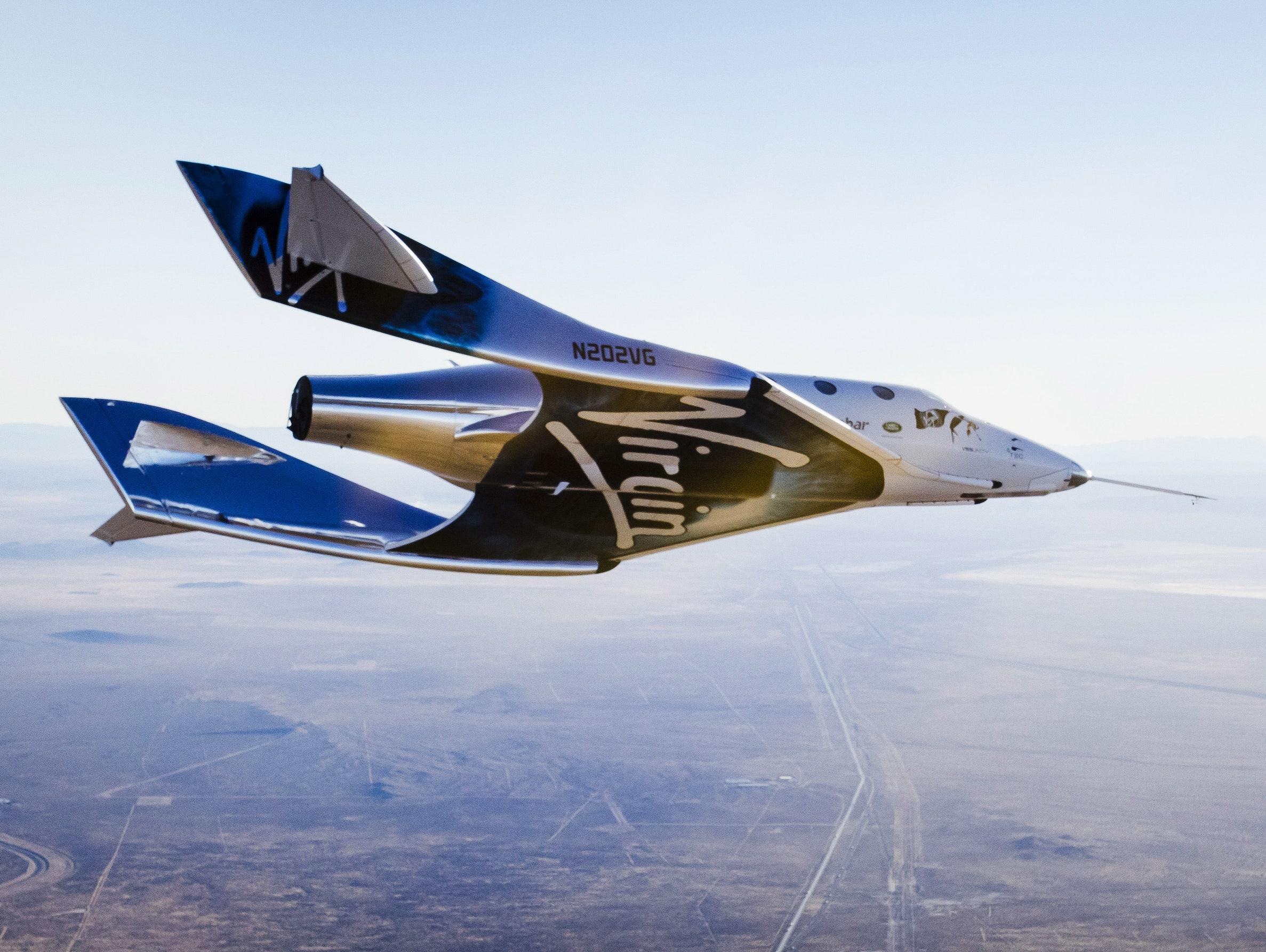 Phi cơ vũ trụ Space Ship Two thuộc Virgin Galactic. Ảnh: Virgin Galactic