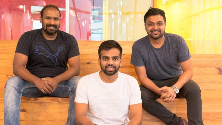 Sameer Mhatre, Nischal Shetty và Siddharth Menon, những người sáng lập sàn giao dịch tiền điện tử Ấn Độ WazirX.