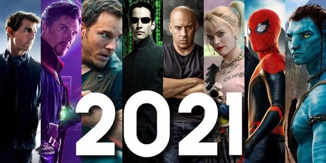 Số lượng phim ra mắt vào năm 2021 tăng mạnh sau những trì hoãn trong năm 2020.