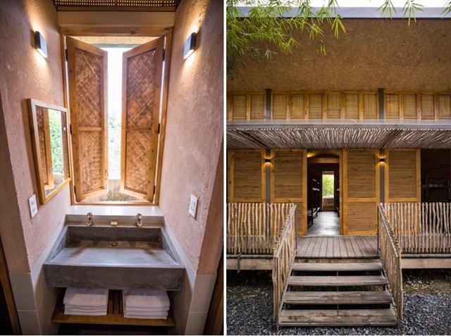 Mái nhà bằng trấu trộn, tường gạch phủ vôi tự nhiên trong dự án 'lớp học xanh' - Ảnh 10
