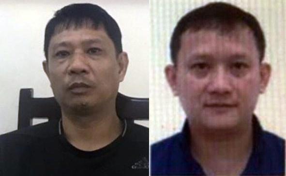 Bị can Bùi Quốc Việt (trái) là anh trai của Bùi Quang Huy (phải).