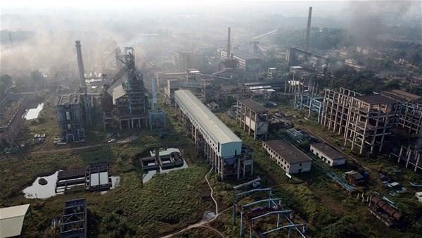 Toàn cảnh dự án mở rộng sản xuất giai đoạn 2 - Công ty cổ phần Gang thép Thái Nguyên.