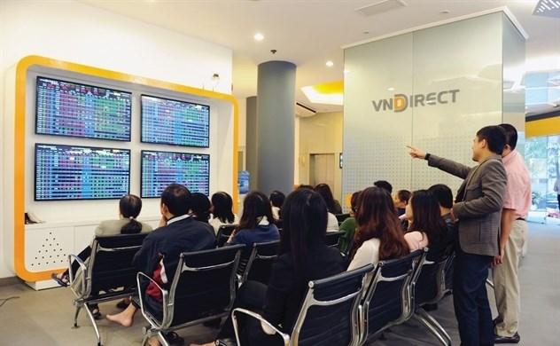 Sàn giao dịch chứng khoán tại VnDirect.