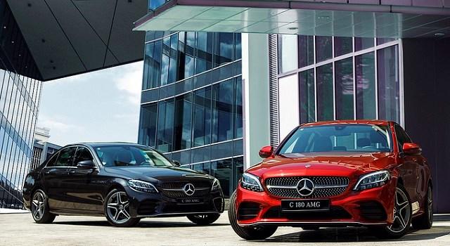 Mercedes C180 AMG có giá cao hơn 100 triệu đồng so với bản tiêu chuẩn. Ảnh:Mercedes