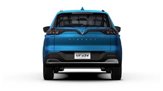 Cụm đèn hậu đặc trưng của hãng xe Việt trên chiếc ô tô điện VinFast VF e34