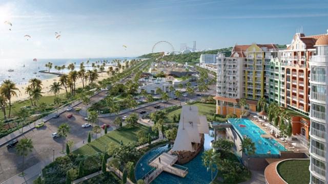 Bình Thuận hứa hẹn trở thành điểm đến hàng đầu khu vực với nhiều dự án bất động sản du lịch quy mô đang được đầu tư. Ảnh phối cảnh dự án NovaWorld Phan Thiet.