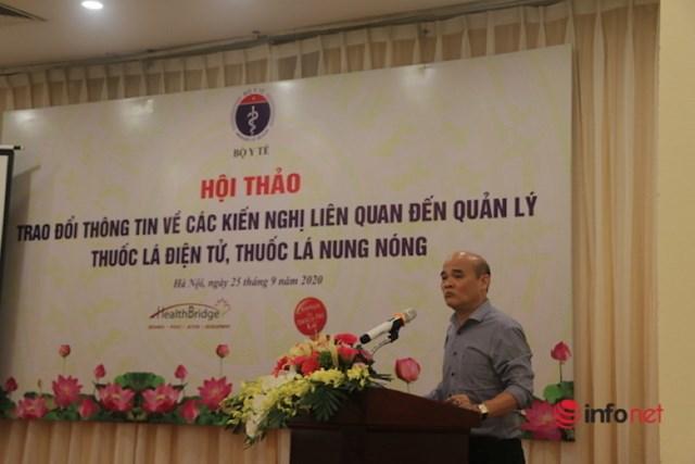 Vụ trưởng Vụ Pháp chế, Bộ Y tế Nguyễn Huy Quang phát biểu khai mạc hội thảo
