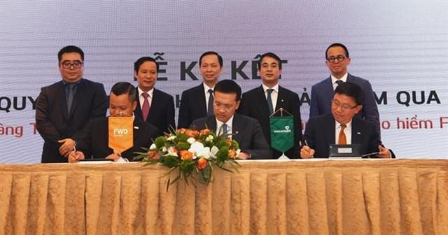 Cho đến nay, thương vụ bancassurance của Vietcombank với FWD vẫn giữ kỷ lục về quy mô giao dịch. Ảnh: VCB