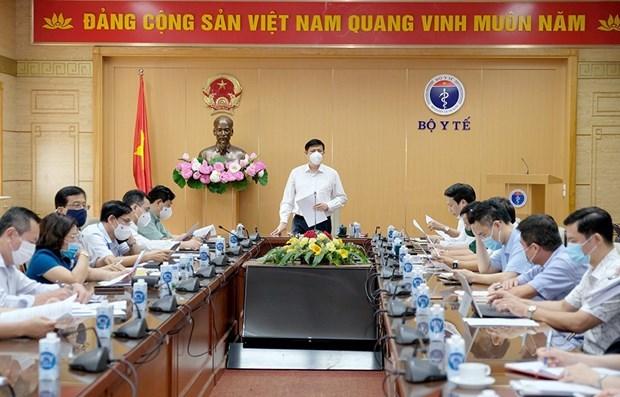 Bộ trưởng Bộ Y tế chủ trì cuộc họp.