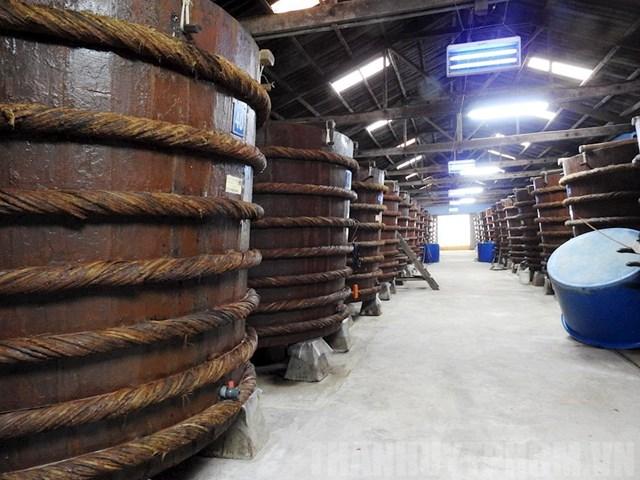 Nhà thùng sản xuất nước mắm Phú Quốc.