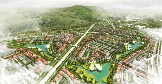 Phối cảnh dự án Khu đô thị Liên Khương - Prenn. Nguồn: Sở Xây dựng Lâm Đồng.