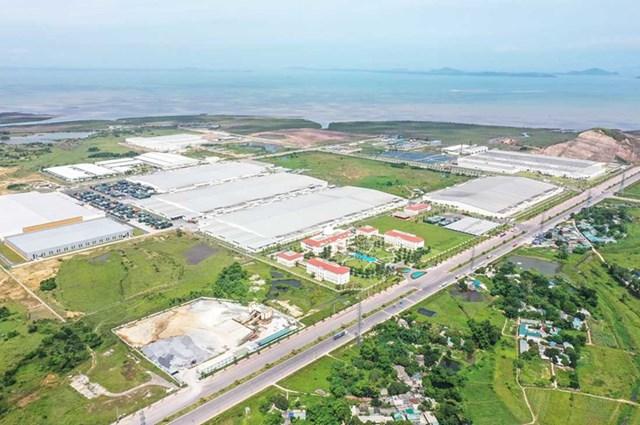 Một phần diện tích KCN Hải Hà. Nguồn: quangninh.gov