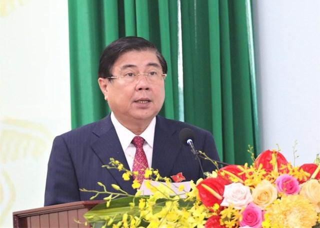 Chủ tịch UBND TP HCM đề nghị Đảng bộ Quận Thủ Đức đoàn kết để lãnh đạo hoàn thành các nhiệm vụ được giao.