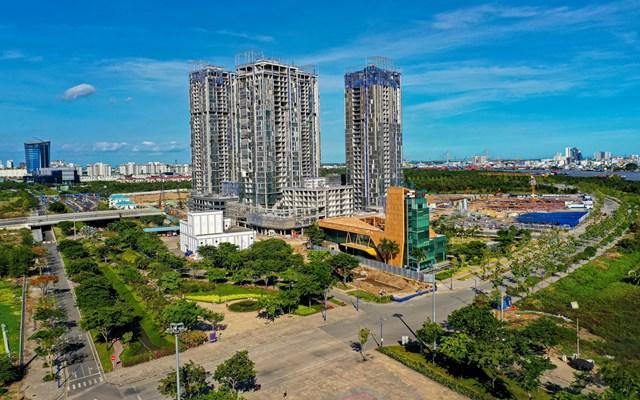 Một dự án tại Thủ Thiêm có giá bán tăng gấp đôi so với thời điểm mở bán năm 2016. Ảnh:Quỳnh Danh.