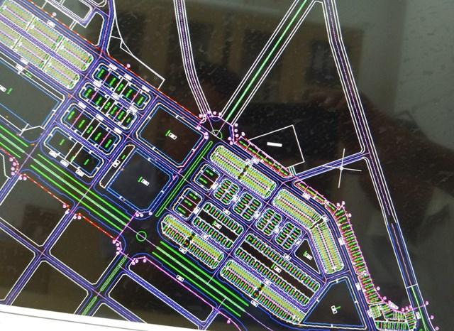 Quy hoạch của Công ty cổ phần Tập đoàn Phúc Sơn chia lô bán nền tại khu vực sân bay Nha Trang - Ảnh: Phan Sông Ngân
