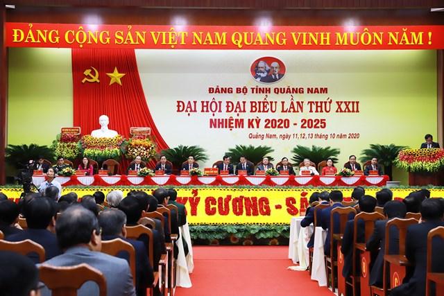 Đại hội Đảng bộ tỉnh Quảng Nam lần thứ XXII - Ảnh: L.T.