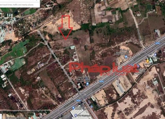 Vị trí của dự án nhìn từ vệ tinh