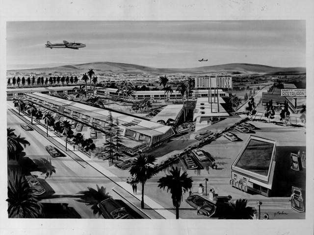 Bản vẽ dựng lại Hyatt House vào những năm 1950.
