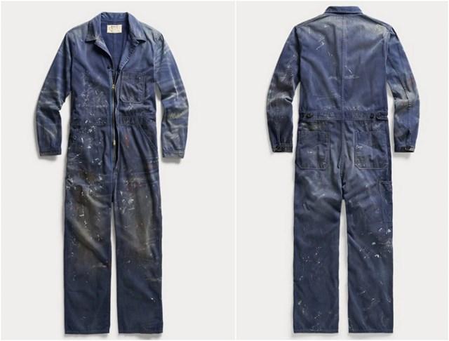 Chiếc quần yếm trông như thể mới đi sơn nhà về này đang được bán với giá lên tới 695 USD - Ảnh 1