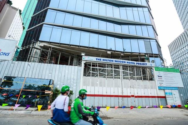 Dự án Khách sạn Hilton Sài Gòn được cấp giấy phép xây dựng phần ngầm vào tháng 1/2017.