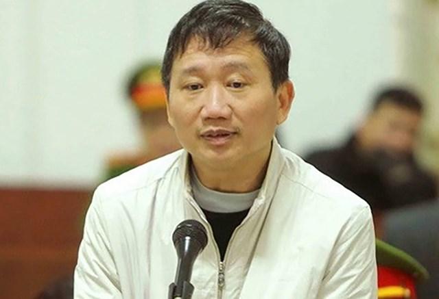 Trịnh Xuân Thanh trong phiên tòa năm 2018.
