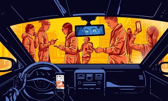 Chiếc smartphone gần như không bao giờ rời khỏi tay người dùng hiện đại, biến chúng thành một phần cơ thể con người. Ảnh minh họa:Glenn Harvey.