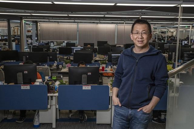 Nhà sáng lập của ByteDance Zhang Yiming hiện đang sở hữu khối tài sản 60 tỷ USD. Ảnh: Bloomberg.