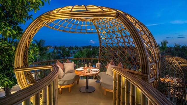 Một tổ chim tại nhà hàng Terra. Ảnh: Waldorf Astoria Maldives Ithaafushi