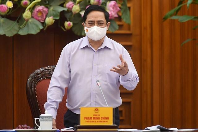 Thủ tướng Chính phủ Phạm Minh Chính chủ trì cuộc họp về tình hình, kết quả công việc của Bộ Kế hoạch và Đầu tư. Ảnh VGP