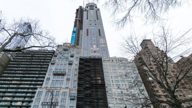 Căn hộ của tỷ phú Tsai vừa mua có tầm nhìn bao quát ra công viên Central Park và khu trung tâm Manhattan.