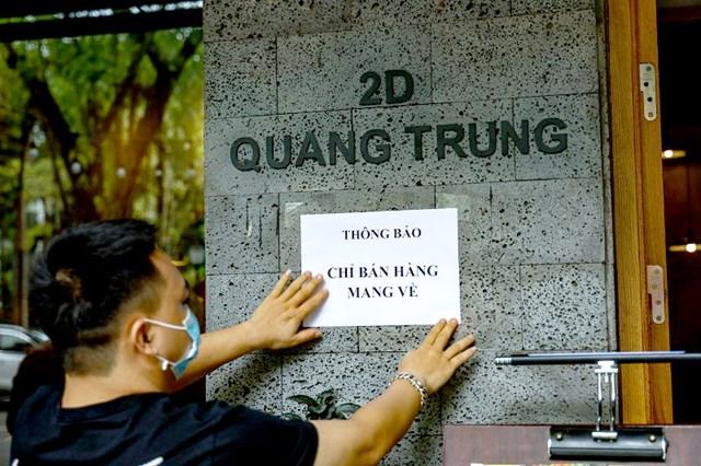 Hà Nội: Cửa hàng ăn uống, dịch vụ tại một số quận, huyện được bán mang về từ 12h ngày 16/9 - Ảnh 1