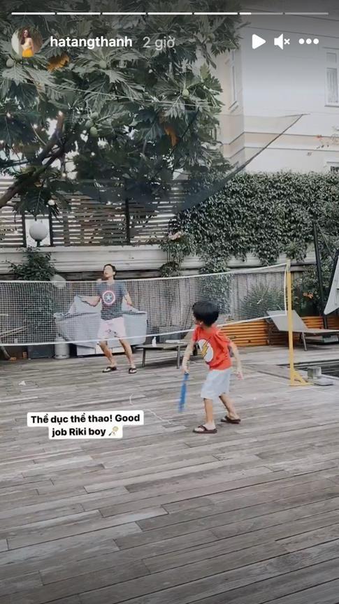 Khu vườn cũng là địa điểm vui chơi của các con cô