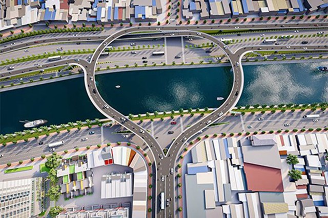 Cầu Nguyễn Khoái sau khi được điều chỉnh quy mô để kết nối với đường Võ Văn Kiệt - Nguồn: Sở GTVT TPHCM