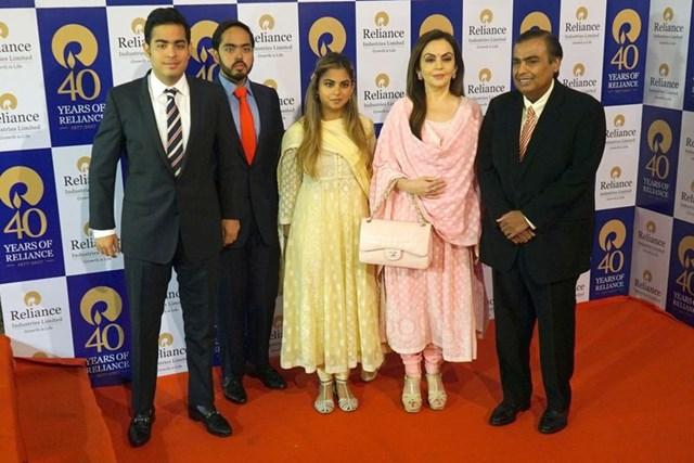 Gia tộc giàu có người Ấn Ambani (Ảnh: Getty Images)