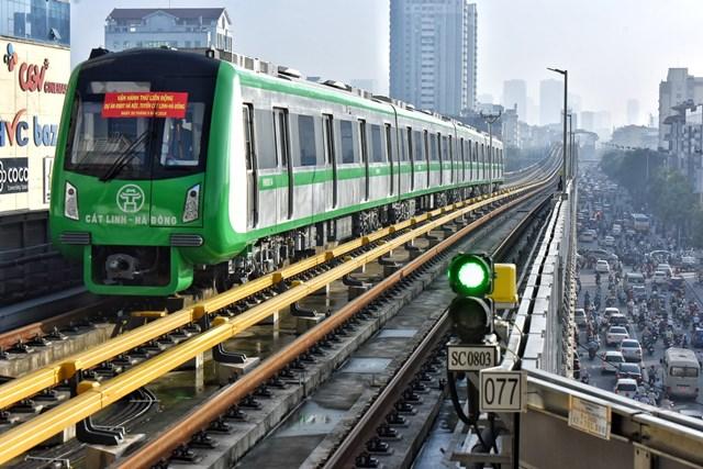 Dự án Cát Linh - Hà Đông đã hoàn thành việc vận hành thử toàn tuyến.