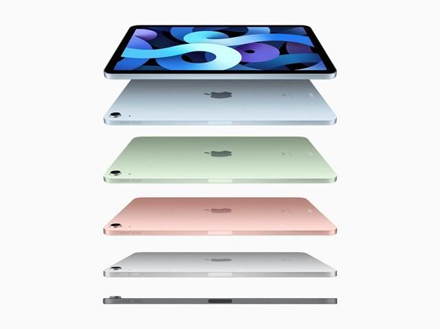 iPad Air 2020 có 5 lựa chọn màu sắc.