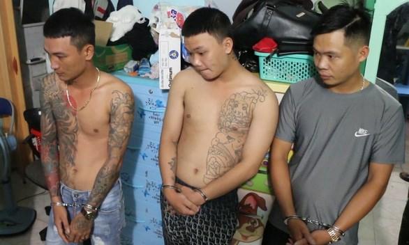 Băng nhóm tín dụng đen vừa bị Công an Bình Phước bắt giữ.