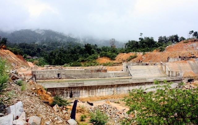 Dự án thủy điện Sông Giang 2 được xây dựng ở huyện Khánh Vĩnh, tỉnh Khánh Hòa.Ảnh:An Bình