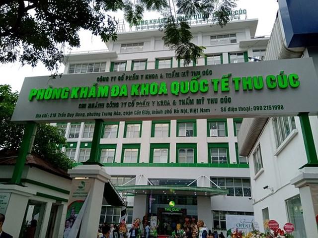 Phòng khám Đa khoa Quốc tế Thu Cúc tại 216 Trần Duy Hưng, HN bị đình chỉ khám, chữa bệnh từ trưa nay 13/5. Ảnh: ANTĐ