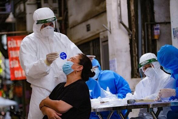 Hà Nội phát hiện ca nhiễm Covid-19 mới tại cộng đồng sáng 22/9. Ảnh ST