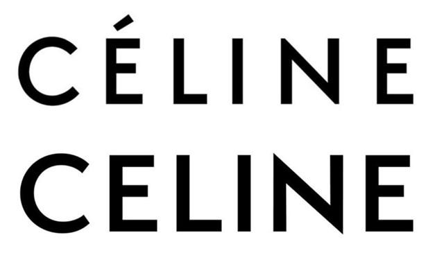 Logo mới của Celine sau khi thay đổi. (Logo mới phía dưới)