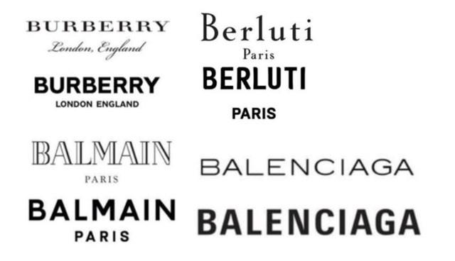 Logo mới của Burberry, Balenciaga, Balmain hay Berlutti đều đi theo hướng in đậm với hy vọng tạo được ấn tượng thị giác hơn với người dùng
