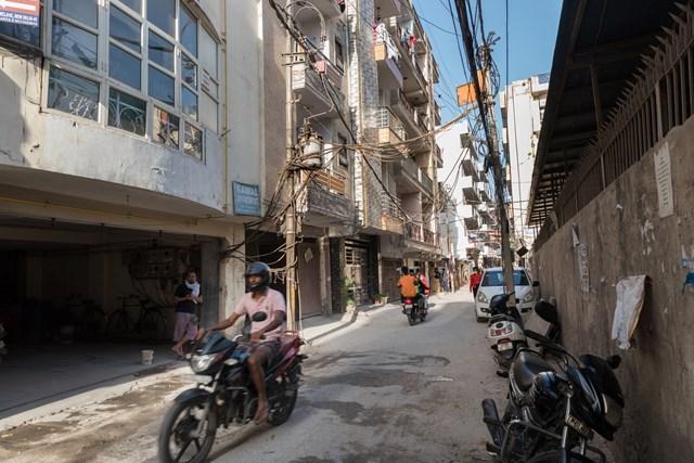 Khu phố gia đình anhAnil G. Kumar sinh sống. Ảnh:Smita Sharma