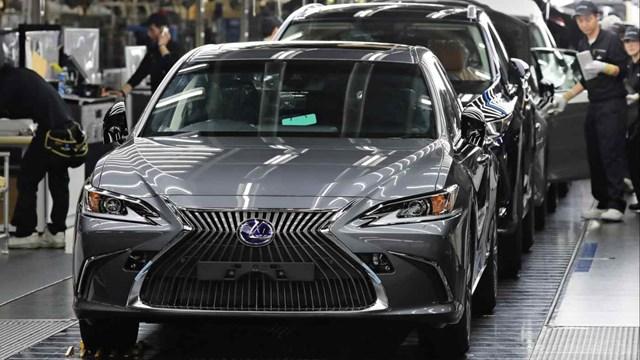 Một nhà máy Toyota ở Fukuoka, Nhật Bản sản xuất thương hiệu xe sang Lexus. Ảnh: Nikkei Asia.