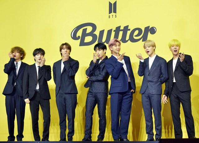 BTS tiếp tục nối tiếp thành công trong năm 2021 với hit 'Butter'. Ảnh: Forbes