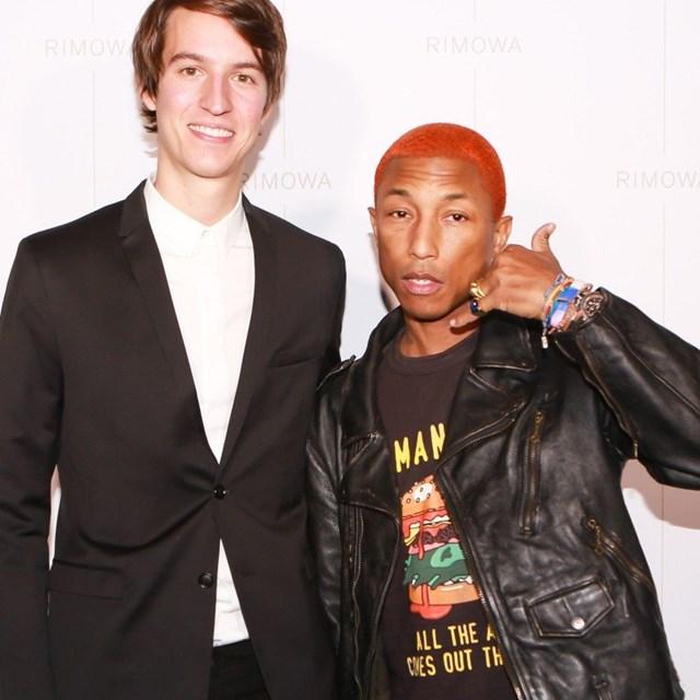 Alexandre Arnault và ca sĩ Pharrell Williams. Ảnh: SCMP